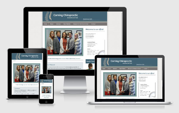 Web Site Design for Corning Chiropractic