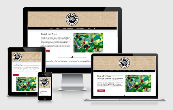 Web Site Design for Creekside Tree Farm