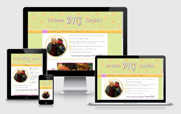 Web Site Design for Dream Big Sophie
