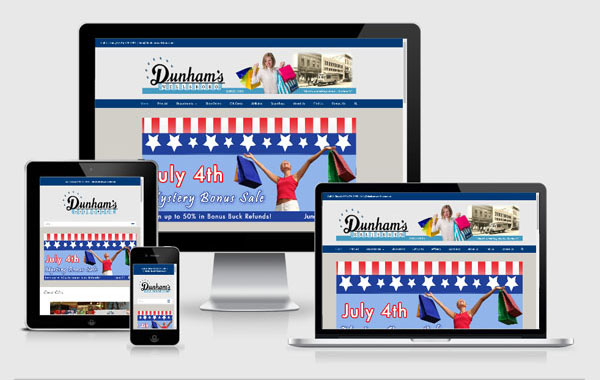 Web Site Design for Dunham's Wellsboro