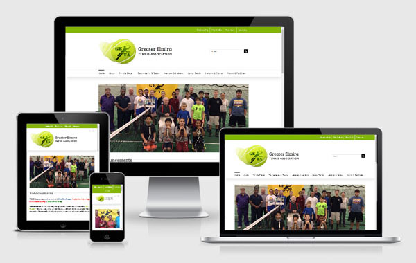 Web Site Design for Greater Elmira Tennis Association