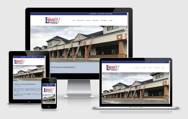 Web Site Design for Liberty Seamless Gutters