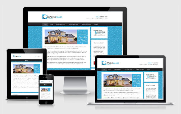 Web Site Design for Looking Glass Cleaning