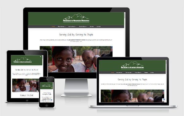 Website Design for Mountains to Mountains Ministries