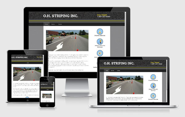 Web Site Design for O.H. Striping