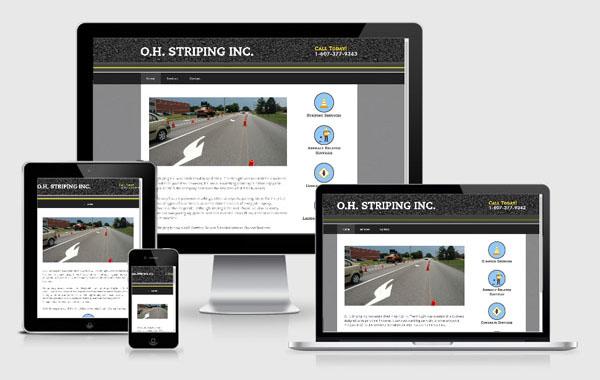 Web Site Design for O.H. Striping