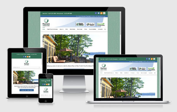 Web Site Design for Pearson Seamless Gutters