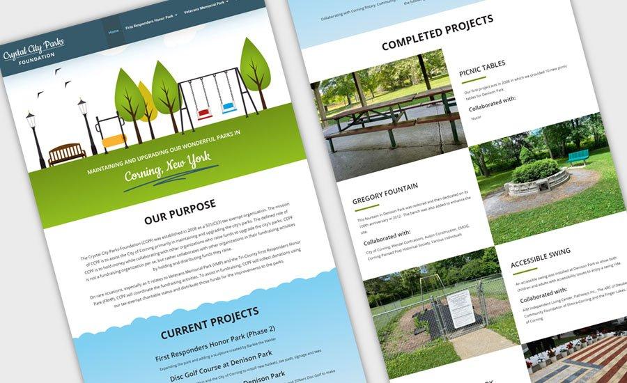 Crystal City Parks Foundation Website Design