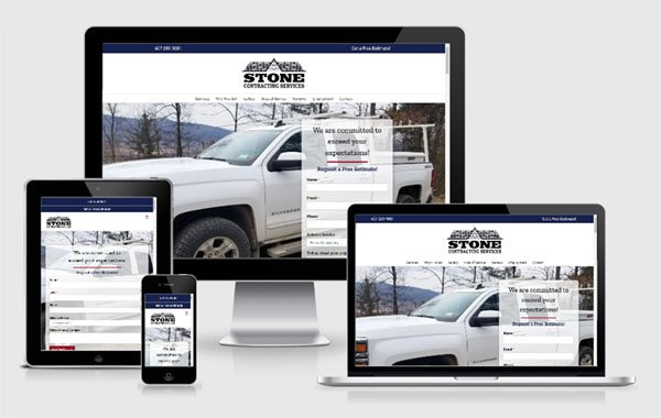Website Design for Stone Contracting Services