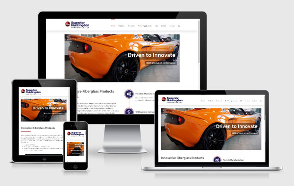 Web Site Design for Superior Huntingdon Composites
