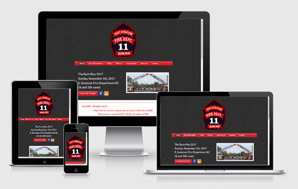 Web Site Design for The Burn Run