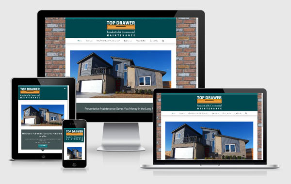 Website Design for Top Drawer Residential and Commercial Maintenance