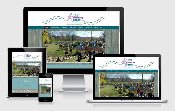 Website Design for Walk A Mile In My Shoes