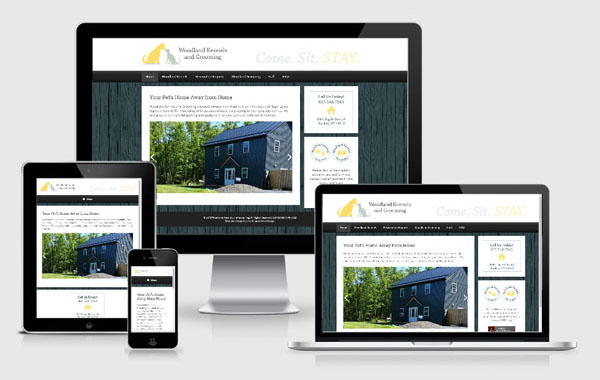 Website Design for Woodland Kennels and Grooming