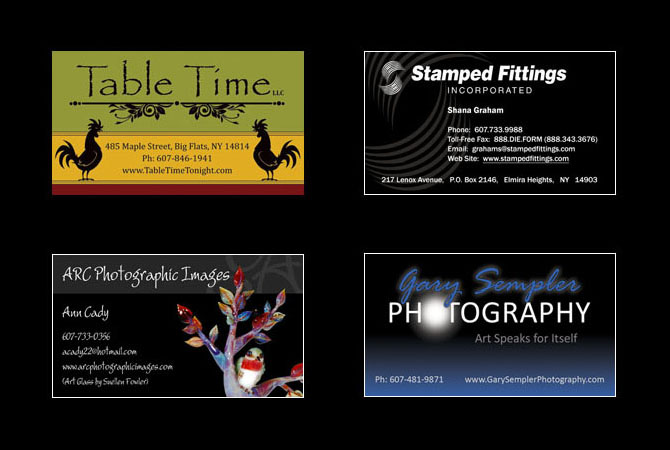 Business Card Design by Julie Burgess Web Design