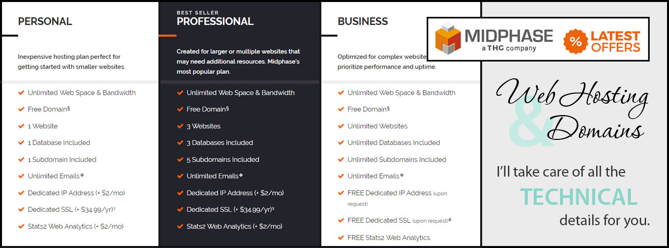 Web Hosting & Domains - Julie Burgess Web Design will take care of all the technical details for you.
