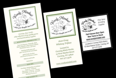 Rack Card, Business Card and Newspaper Ad Design by Julie Burgess Web Design